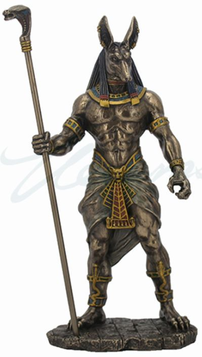 Anubis Holding Scepter Egyptian God Statue | My Spirit in