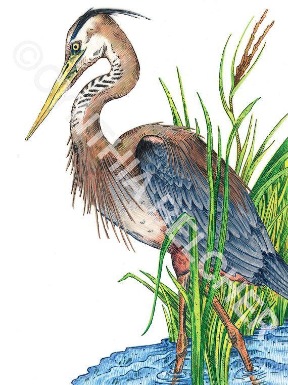 Sac D'emballage - Illustration Heron Gris Par Vida Vida G4aX9mPY