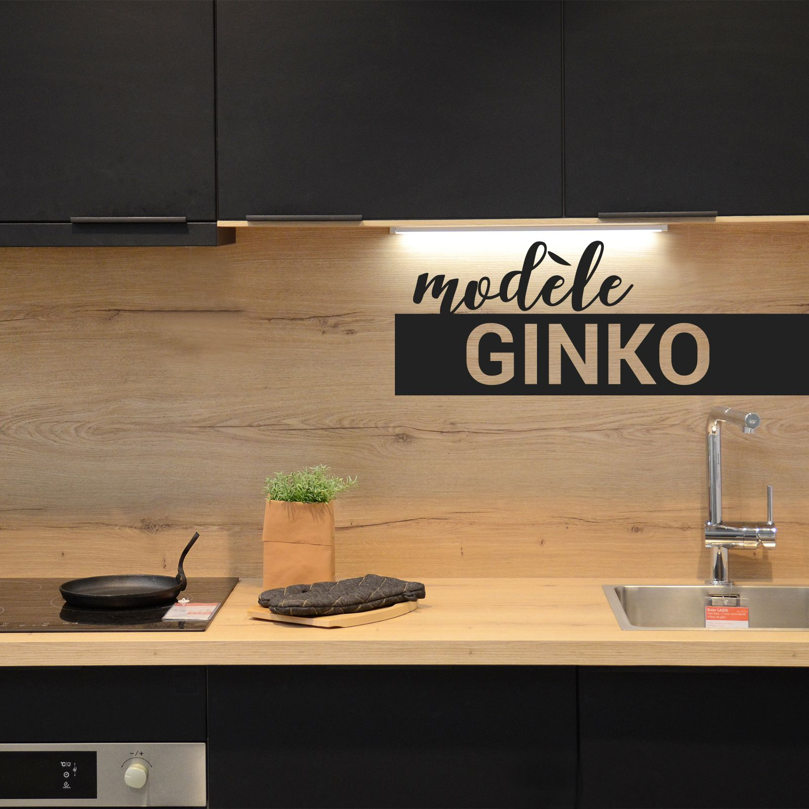 Cuisine Noire Porte Effet Soft Touch Ginko Noir Mat Oskab Oskab Cuisine Noire Cuisine