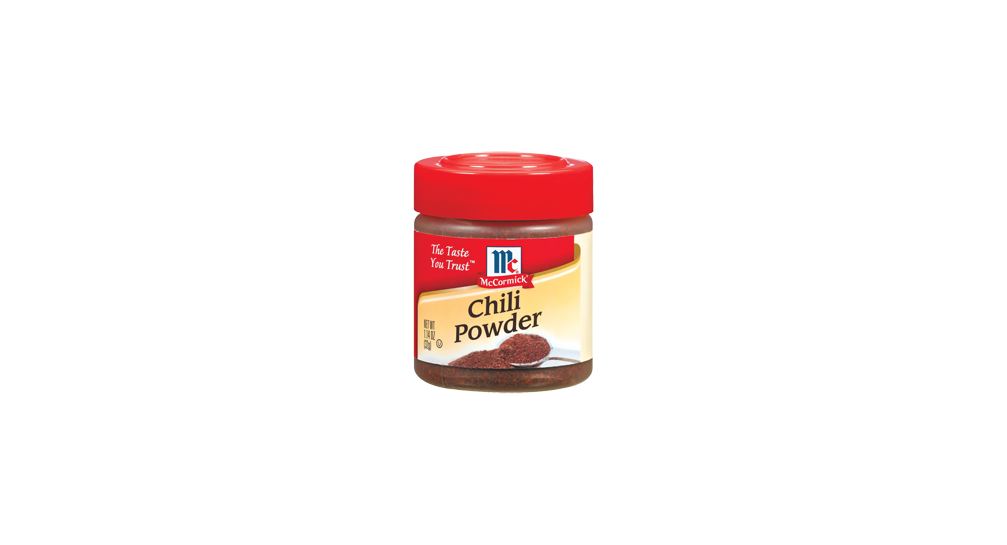 Homemade chili powder-1 T ground ancho chile or paprika, 1 t cumin, 1/4 t garlic powder, 1/8 t cayenne, 1/8 t salt