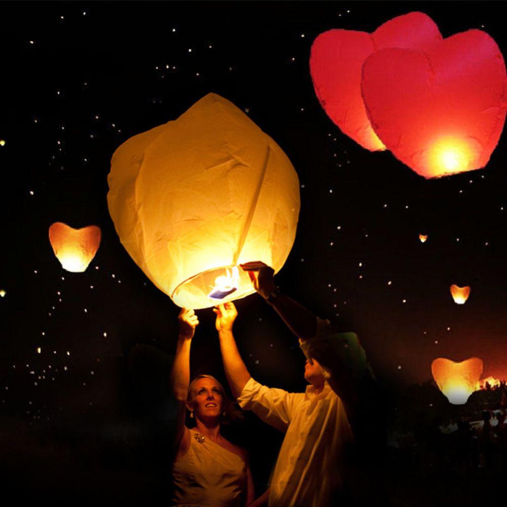 10pcs/lot Chinese Paper Lantern balloons Sky Lanterns Flying ... for Flying Lantern Lights  56bof
