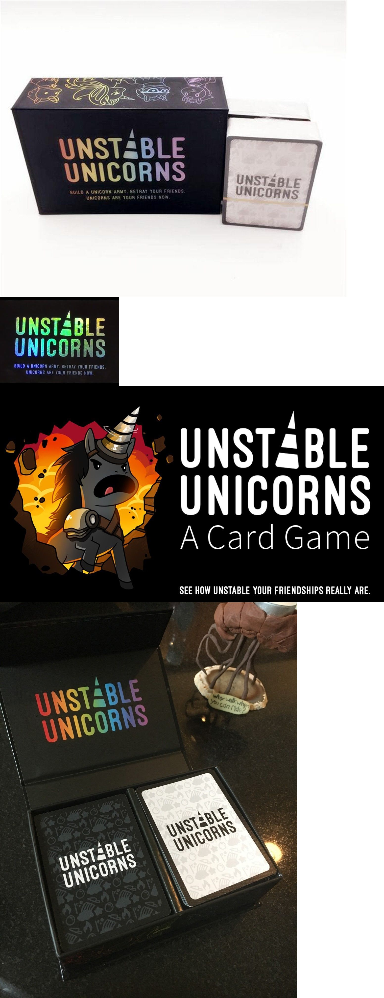 Card Games and Poker 180350 Unstable Unicorns Black