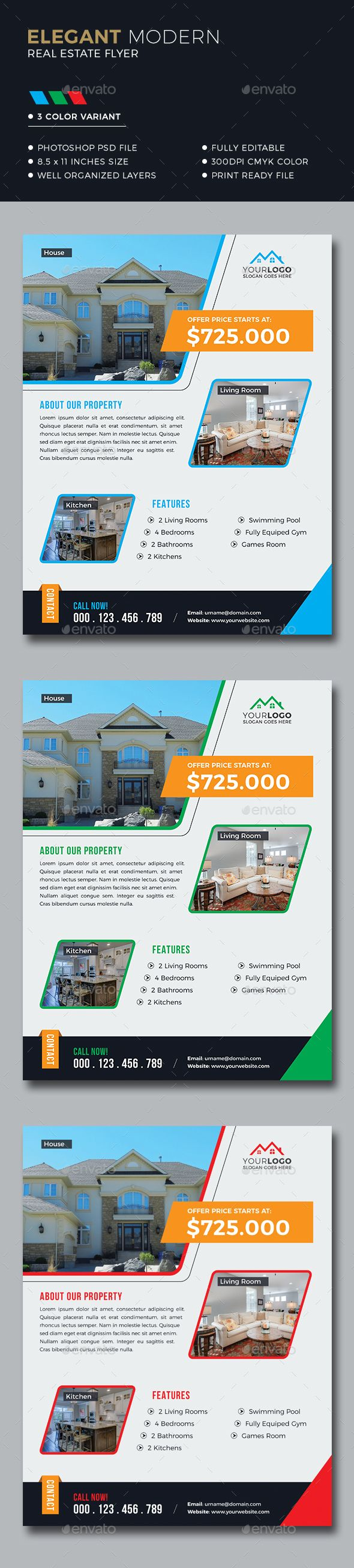 Real Estate Flyer Template PSD Real Estate