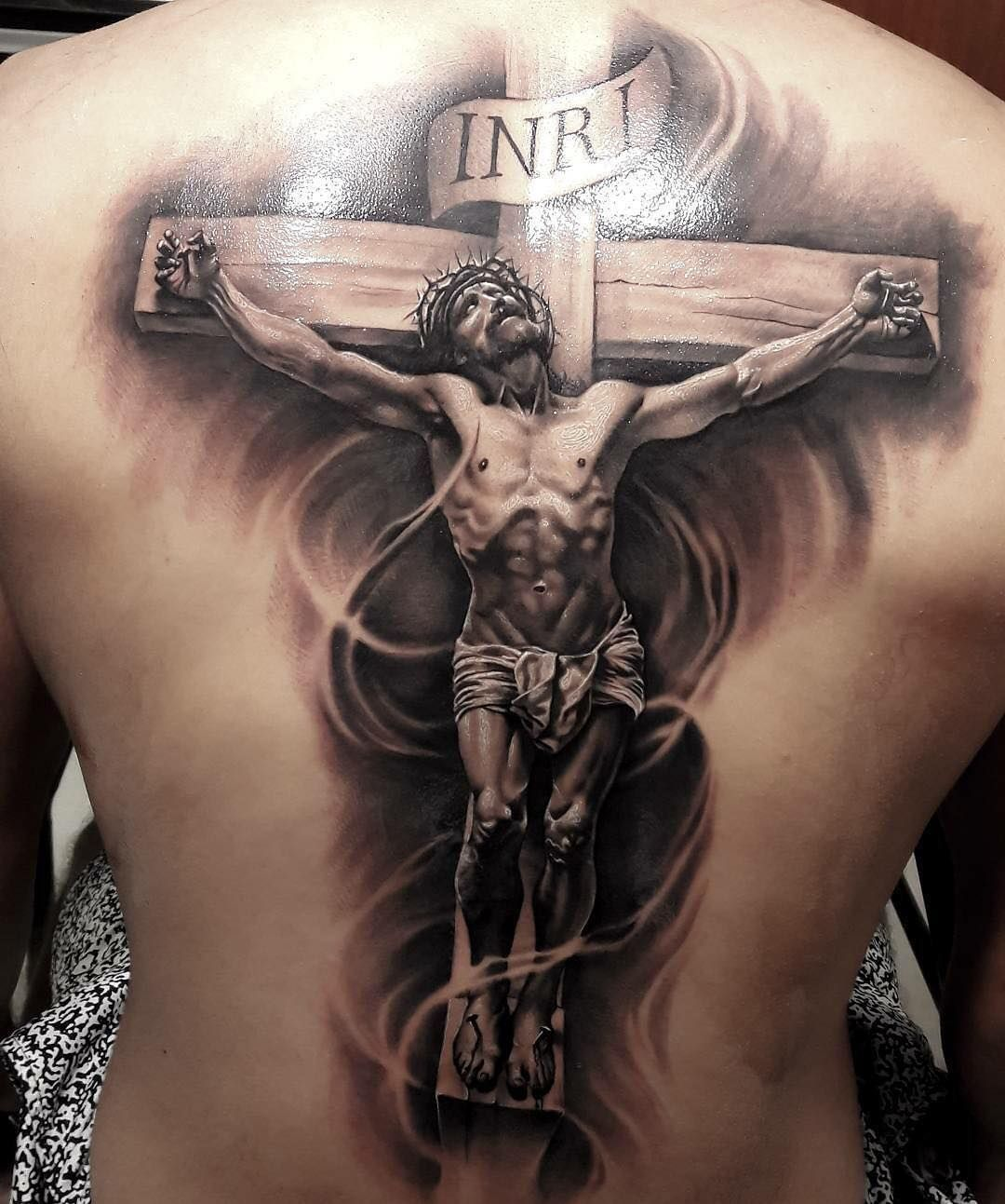 Christ Back Tattoo Tat S Jesus Tattoo Crucifix Tattoo