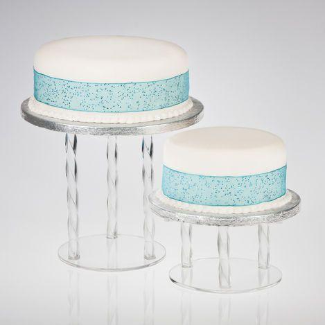 Acrylic Twist Cake Separator Pillars - Round Plates & Acrylic Twist Cake Separator Pillars - Round Plates | Catherine ...