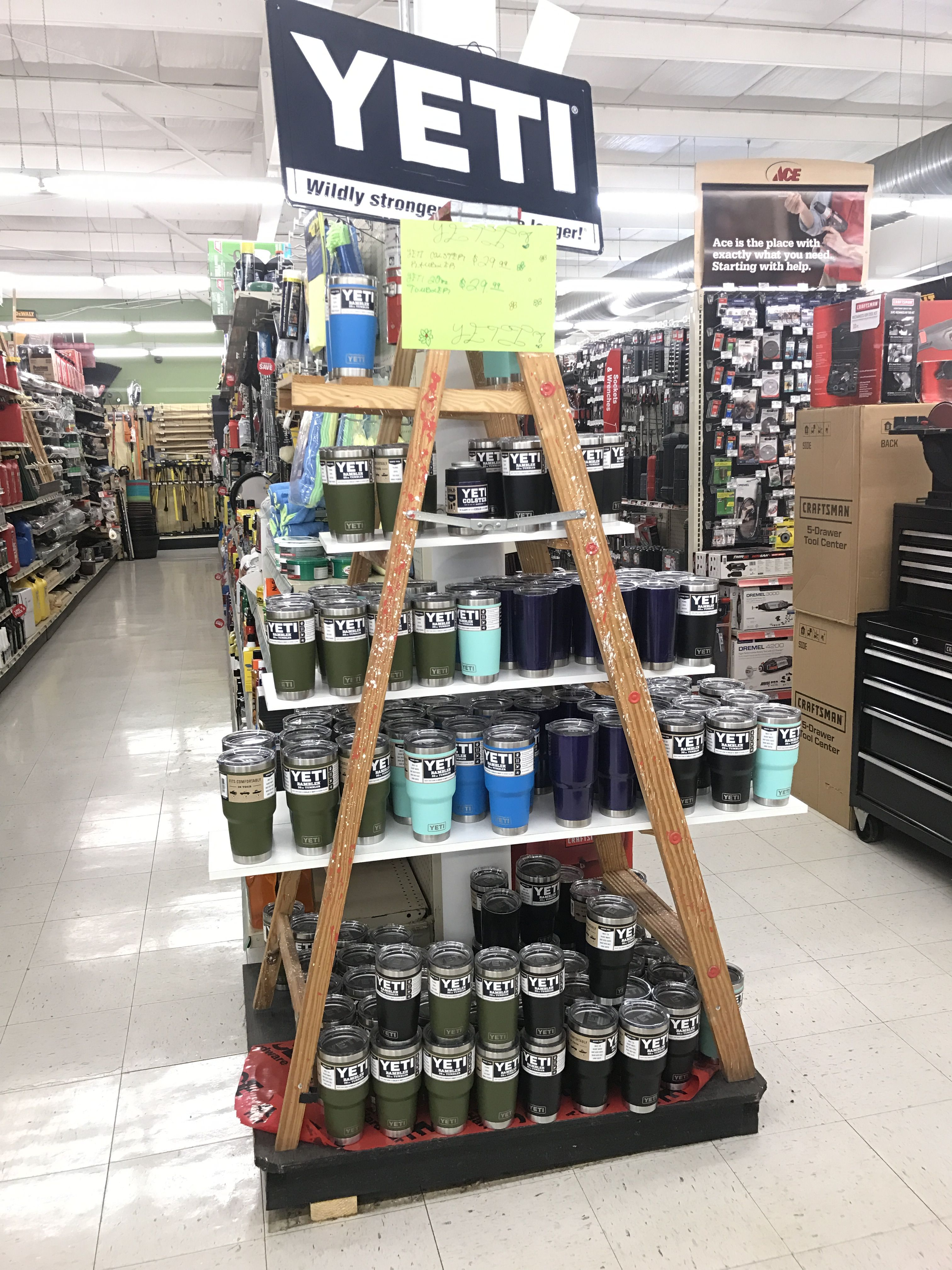 Ladder Display Storing Paint Ace Hardware Store