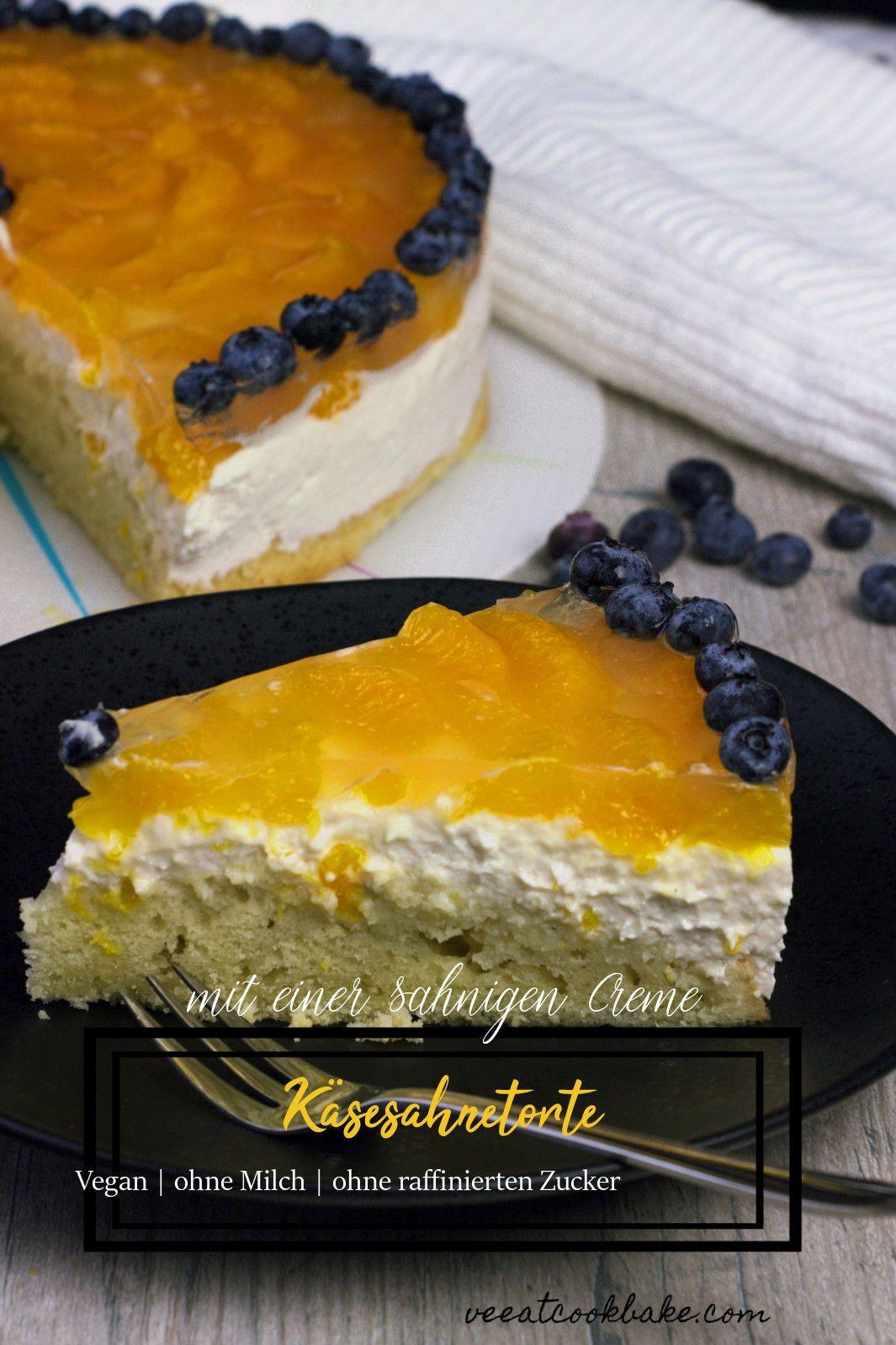 Vegane Mandarinen Quark Sahne Torte Rezept Kuchen Co Vegan