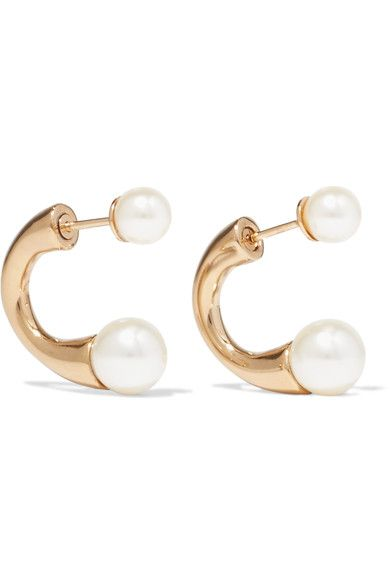 Darcey Gold-tone Faux Pearl Earrings - one size Chlo KT4oNDAgGl