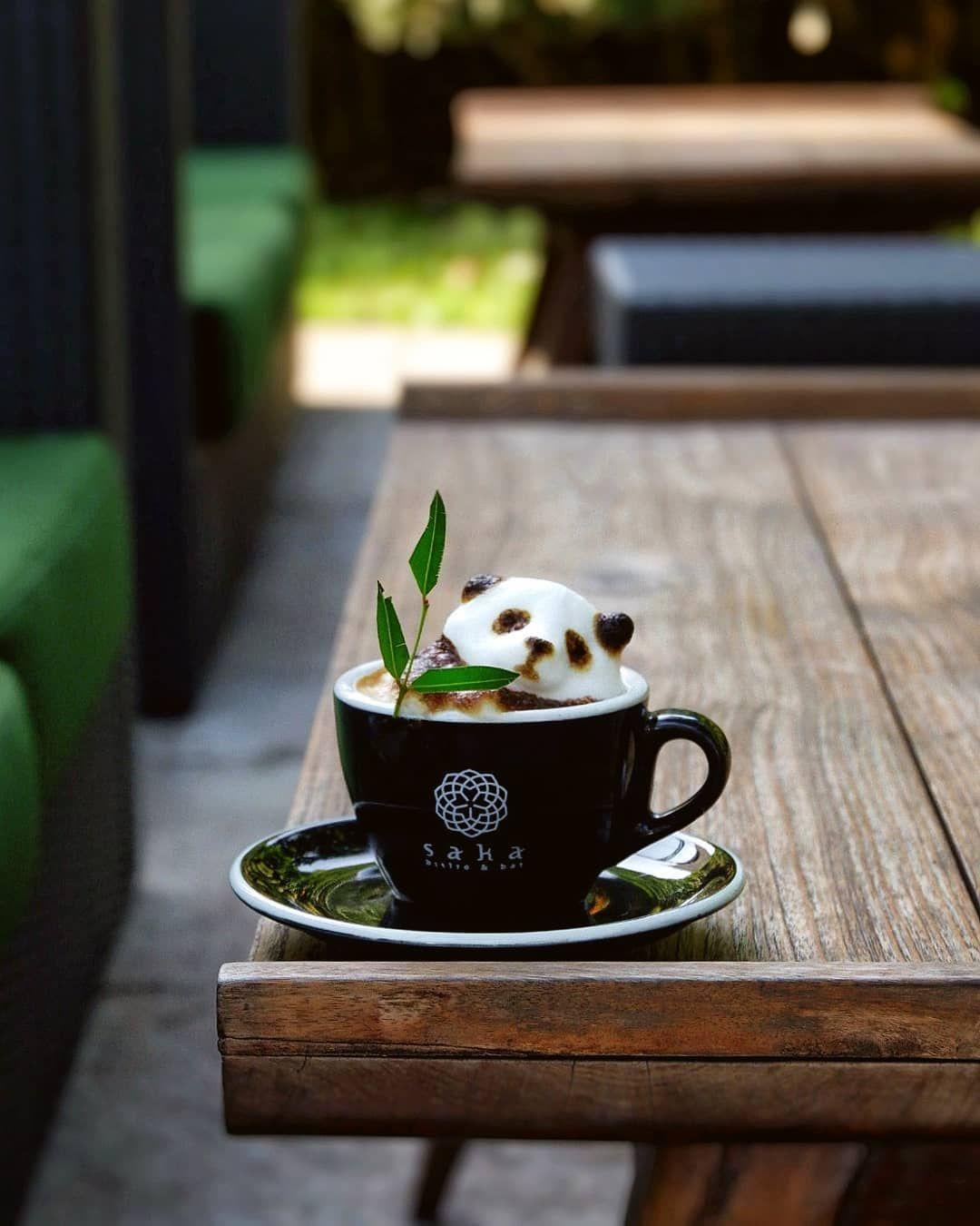 "Tan Tan on Instagram: ""Hello panda ... . . . #newnormal. . .#bear #masfotokopi #coffeelovers #sukakopi #anakkopi #bandung #baristaindonesia…"""