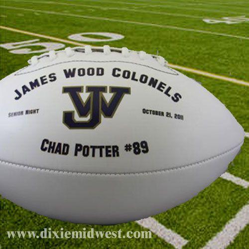 db65c6013da Dixie Midwest - Personalized Footballs - Full Size Custom Football ...