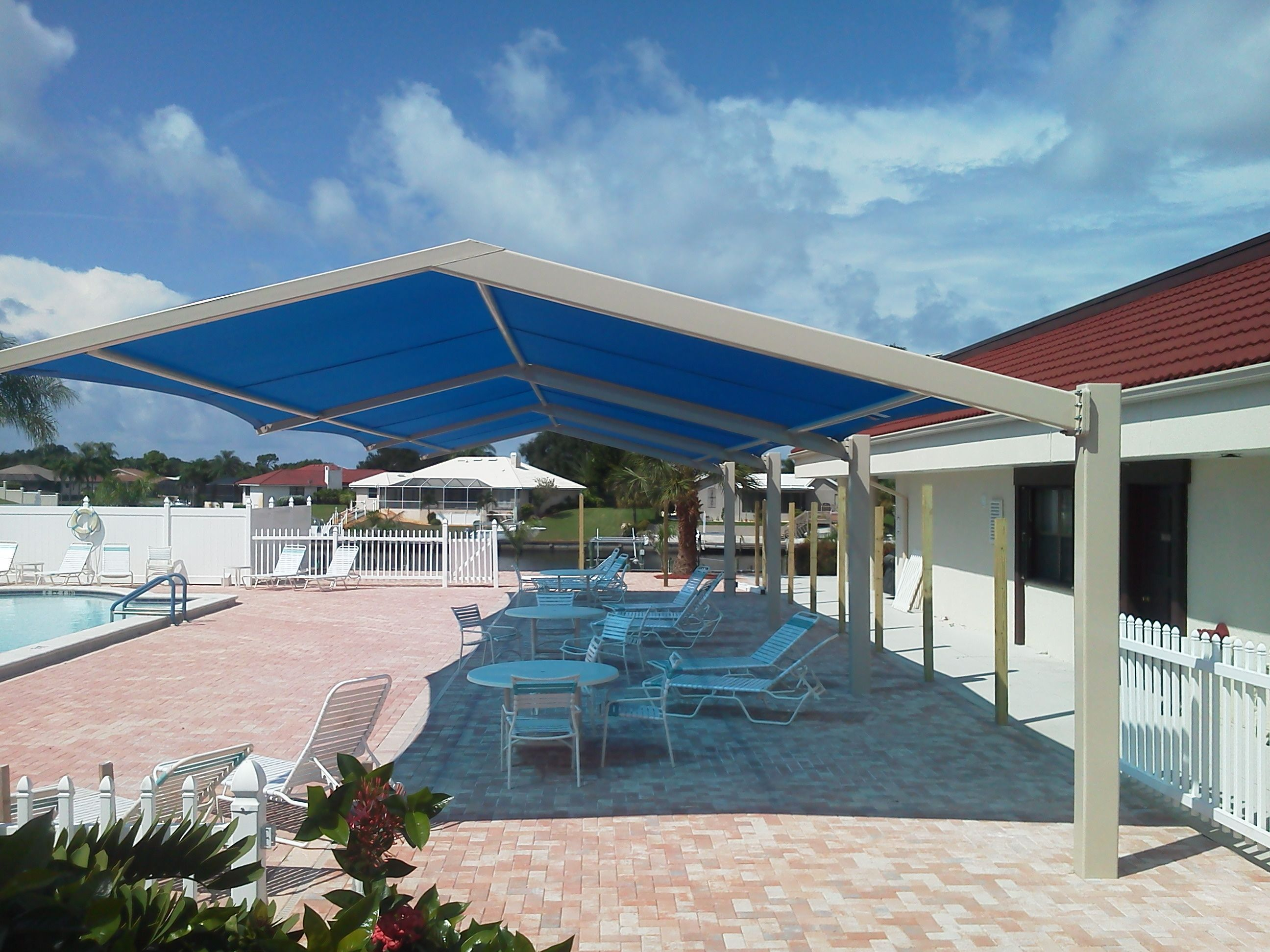 Apollo Sunguard Cantilever Pool Shade Custom Shades Structure