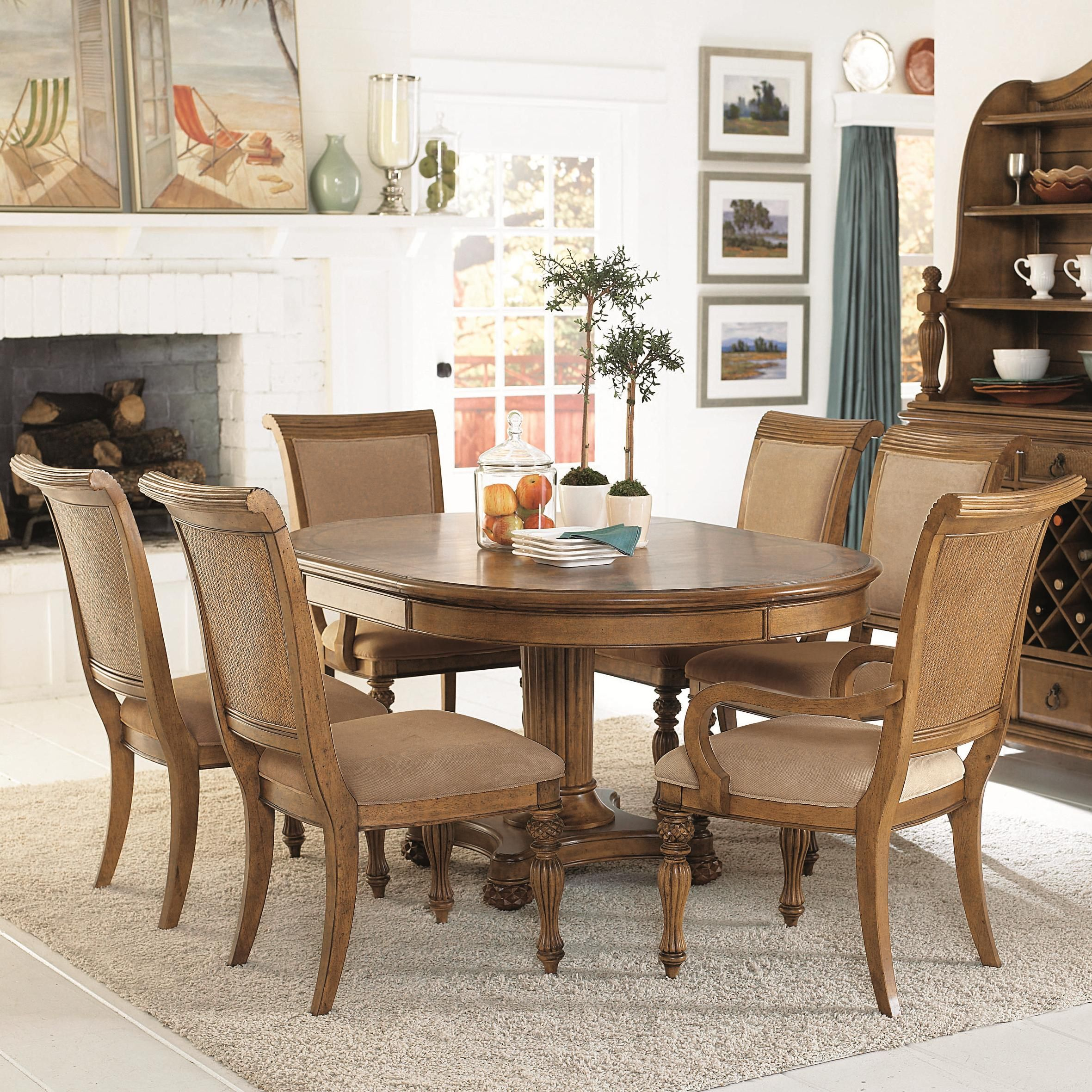 American Drew Grand Isle 7 Piece Set  Item Number 079701R2X639 Endearing 7 Piece Round Dining Room Set 2018