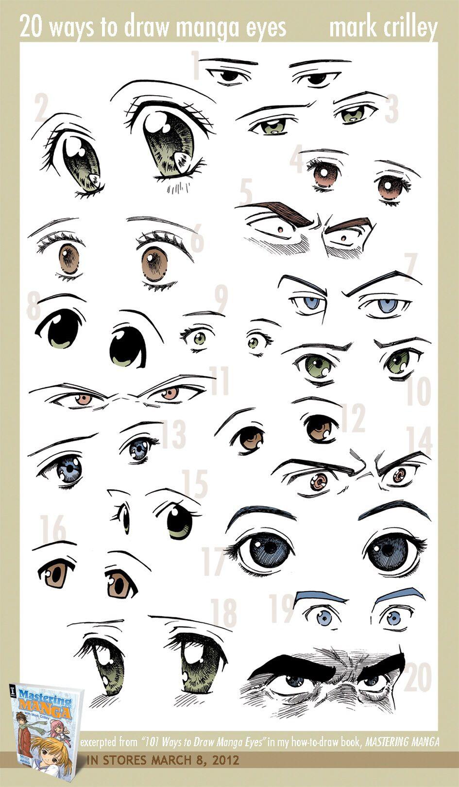 Different Anime Eyes : different, anime, Different, Anime, Styles, Manga, Eyes,, Drawing,, Drawings