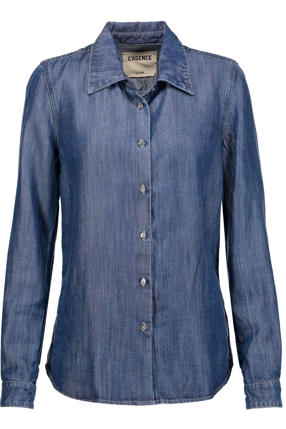 c64aa79229b6 L'AGENCE . #lagence #cloth #shirt | L'Agence | Shirts, Denim blouse ...
