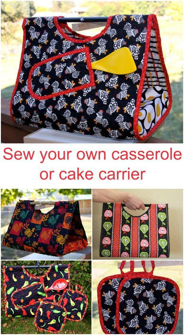 Cake and Casserole Carrier pattern | Handmade Gifts | Sewing