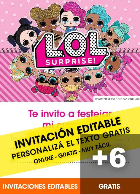 [+6] Tarjetas de cumpleaños de LOL Surprise gratis para editar, personalizar, imprimir, enviar