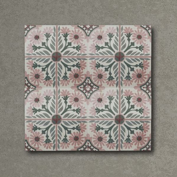 Sakura Handmade Encaustic Cement Floor Tile   Otto Tiles & Design   Encaustic, Moroccan and ...