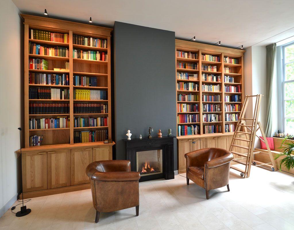 Boekenkast Massief Eiken Home Bookcase Home Decor