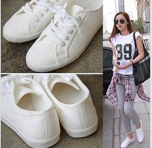 Sport shoes hot-selling lacing white