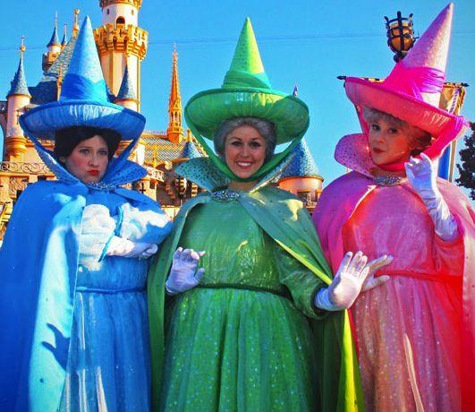 Flora Fauna And Merryweather Sleeping Beauty Fairies Fairy