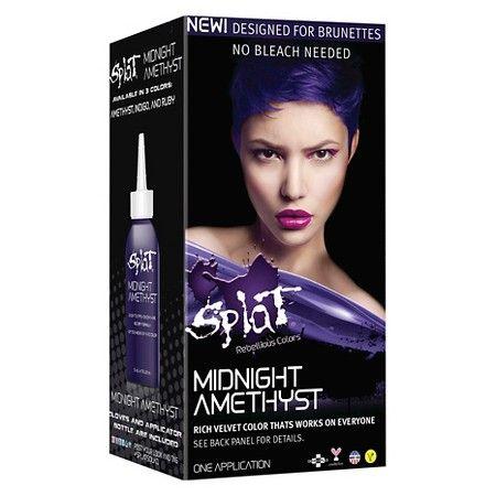Splat Midnight Hair Color Amethyst 6 0 Fl Oz In 2020 Splat Midnight Hair Color Midnight Hair Splat Hair Dye