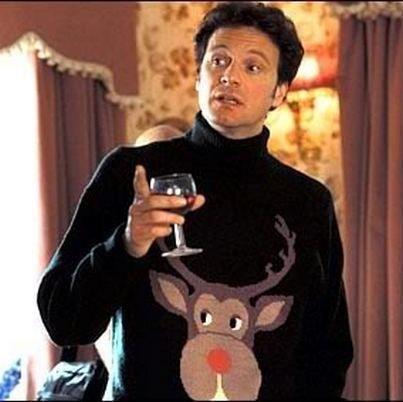 #MarcDarcy et son fameux pull de #Noel à tête de rêne ! #BridgetJones