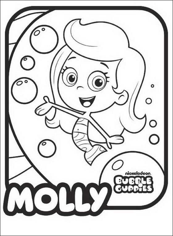 Bubble Guppies Molly Line Drawing Online Coloring Pagesjokilol