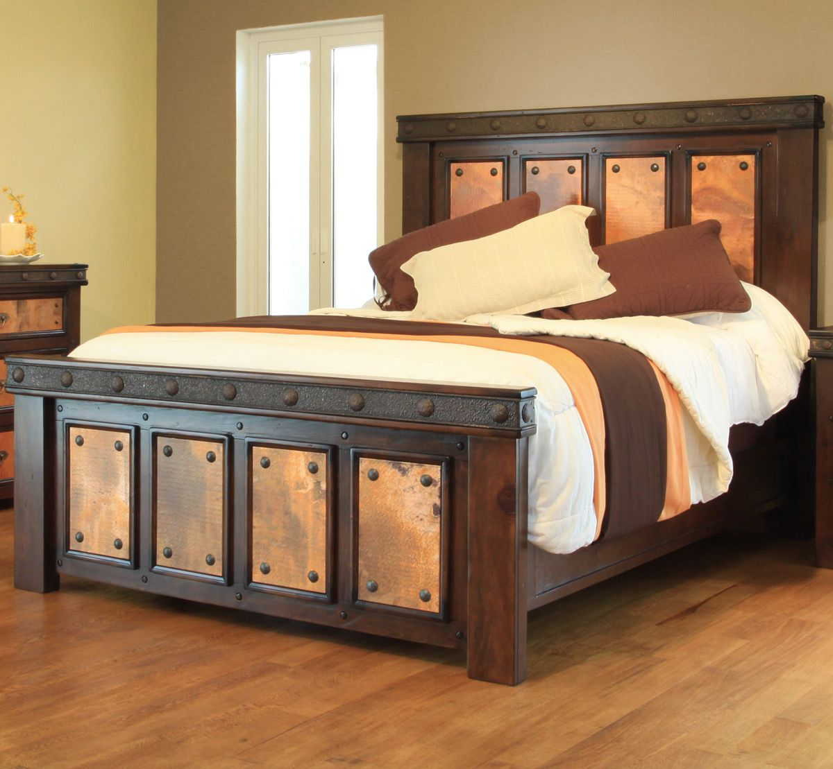 Copper Canyon Complete Bed - King Unique rustic style with copper ...