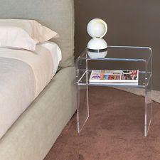 Comodino plexiglass moderno camera da letto NO KARTELL ...