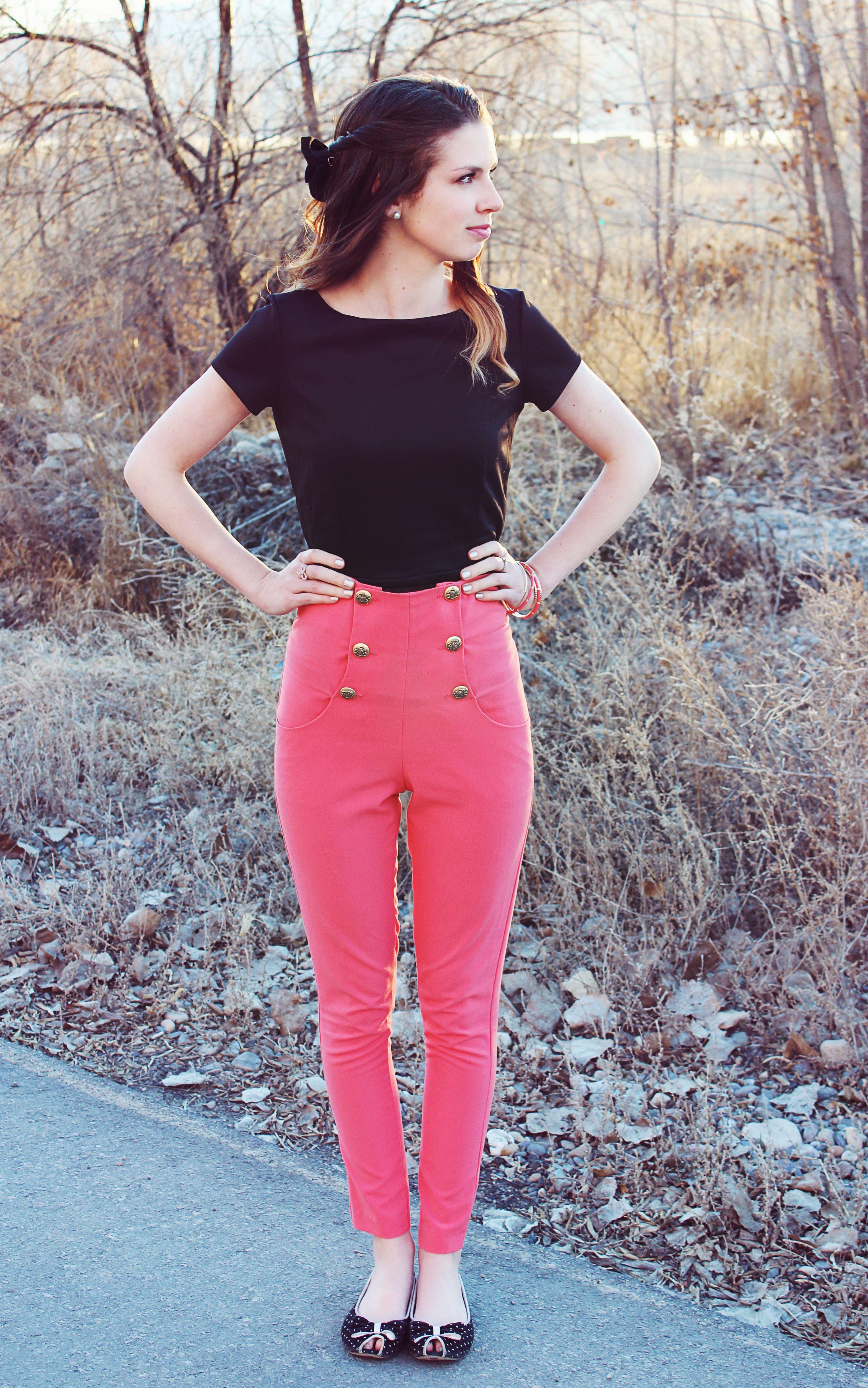 DarlingOnADollar.com #blog #blogger #fashionblog #styleblog #clothes #fashion #style #vintage #pink #highwaisted