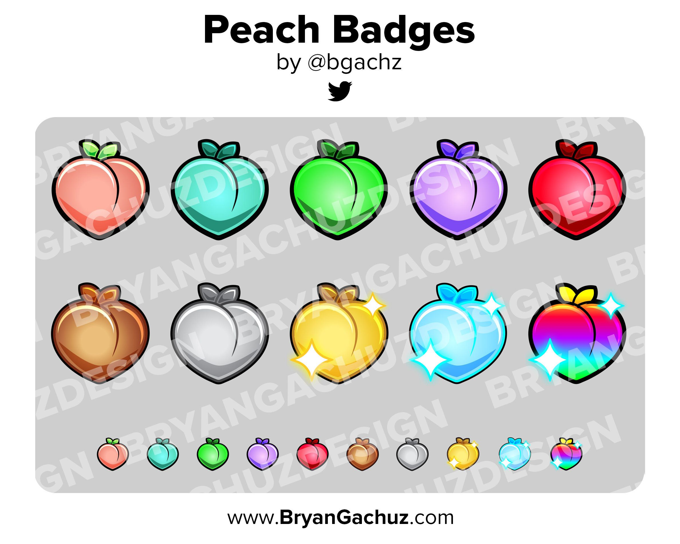 Peach subscriber loyalty bit badges channel points for
