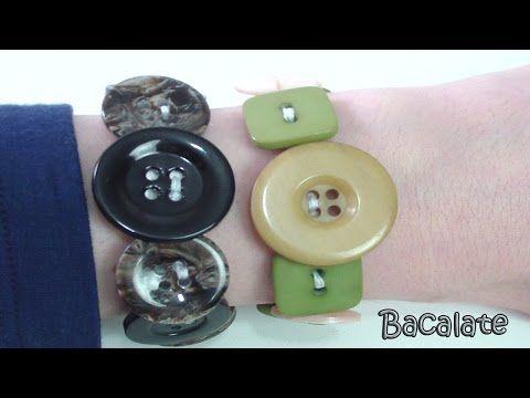 Acessório: Pulseira com Botões - Artesanato, DIY, pulsera con botones - YouTube