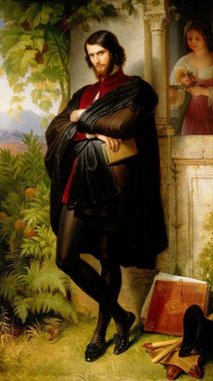 Baron Istvan Pronay as Hamlet, 1841 by Wilhelm von Kaulbach (1804-1874)