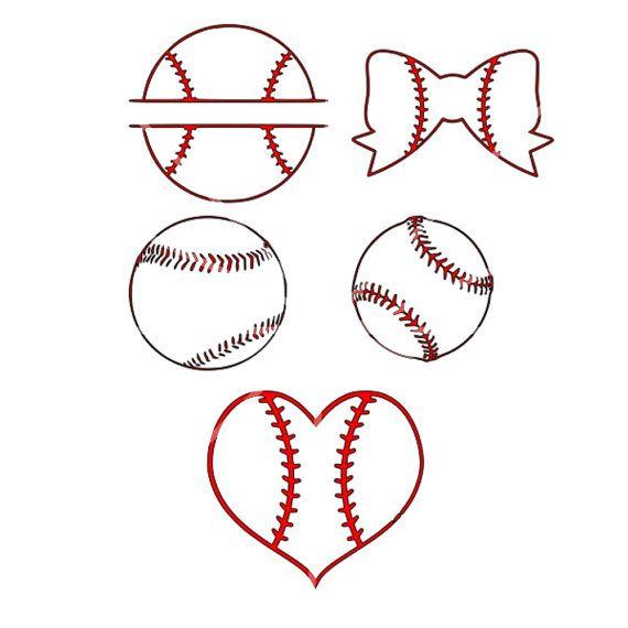 Svg  Baseball Svg Set  Baseball Heart  Baseball Split