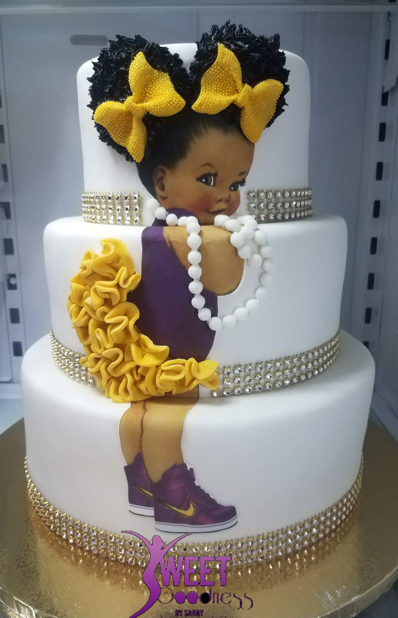 Afro baby cake baby cake doll cake birthday cake girls