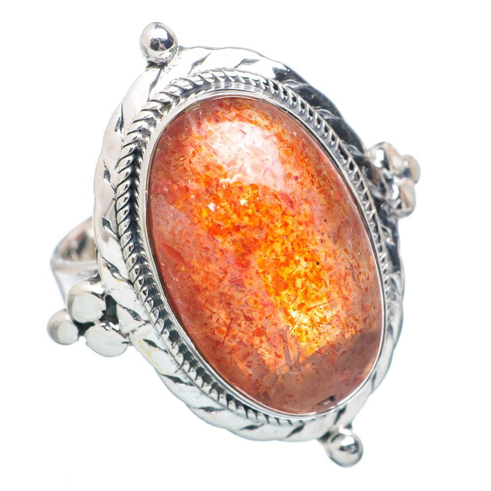 Sunstone 925 Sterling Silver Ring Size 6 RING737549
