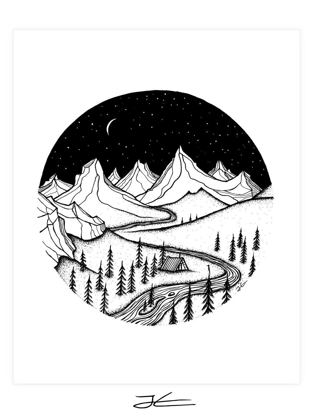 Mountain Home Art Print With Images