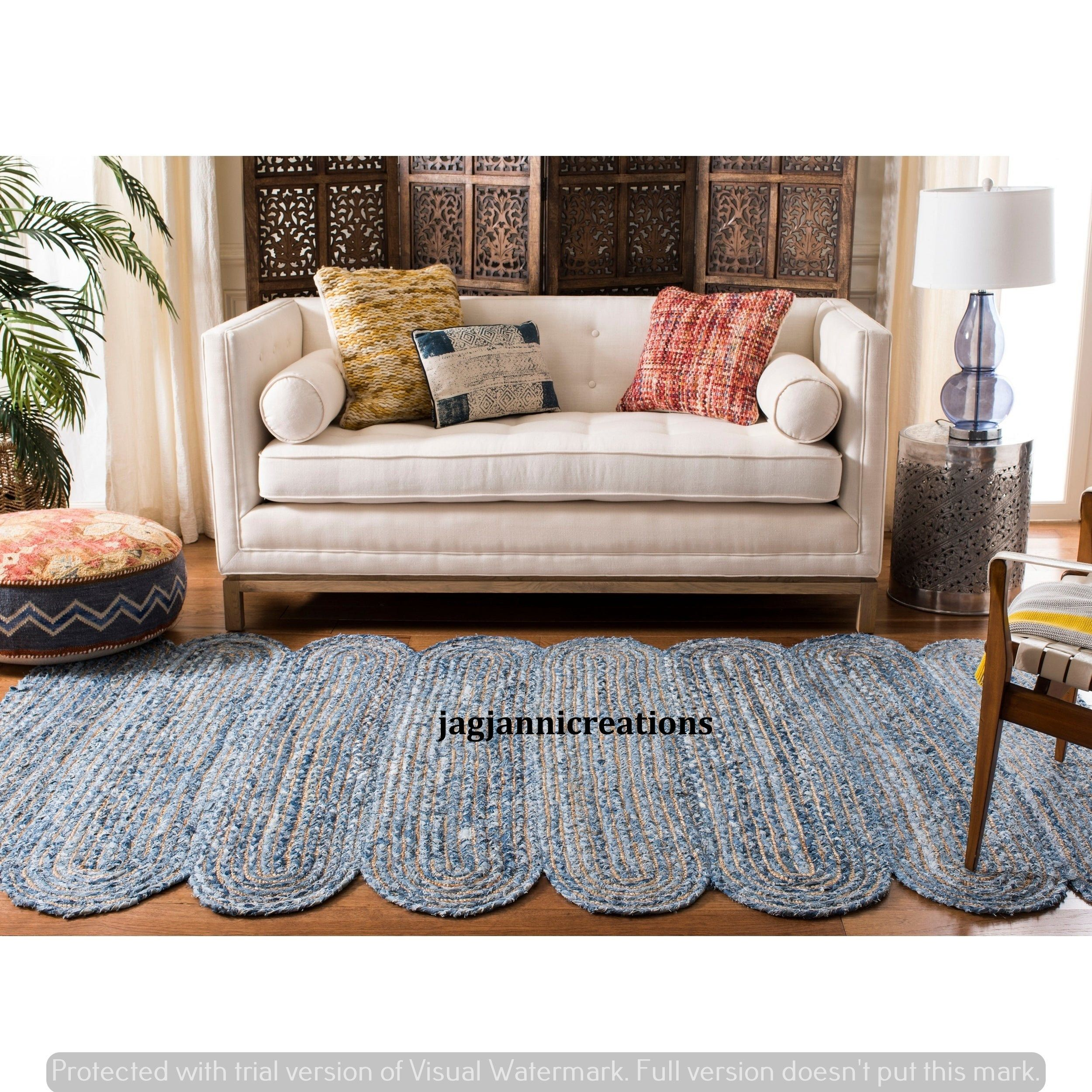 Denim Rug Farm House Area Natural