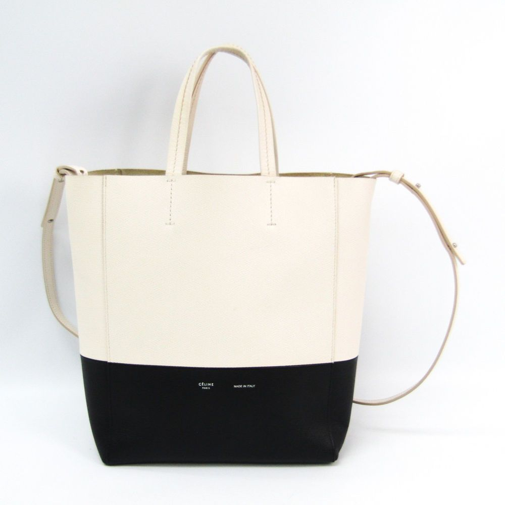 a7a09b2a9c Celine Cabas SMALL VERTICAL 176163 Women s Leather Tote Bag Black ...