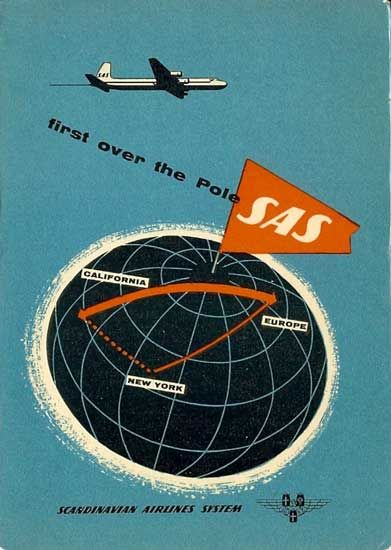 Famgus Aviation Postcards Sas Scandinavian Airlines System Vintage Airline Posters Scandinavian Airlines System Vintage Airlines