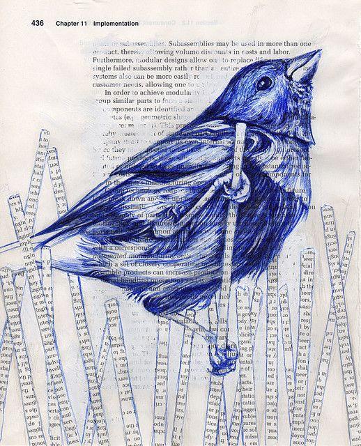Implementation Blue In 2019 Bird Artwork Bird Art Pen Art