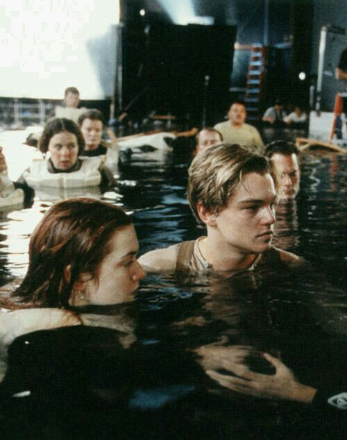 Leonardo DiCaprio While young as Jack Dawson W/ Kate Winslet as Rose DeWitt Bukater
