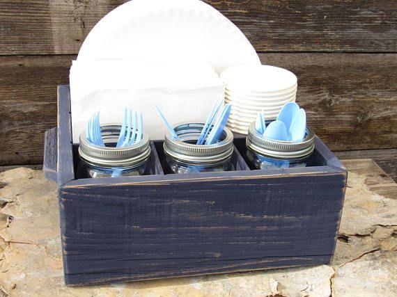 Plate Holder Silverware Holder Utensil Holder Silverware Caddy Napkin Holder Wood Cup Holder Plate Rack Utensil Caddy Napkin Holder