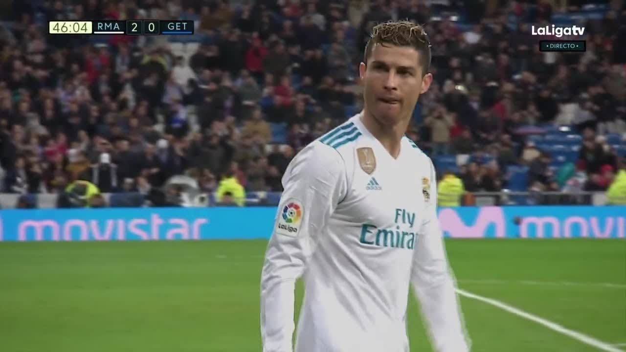 Cristiano Ronaldo Goal Real Madrid Vs Getafe 2018 March