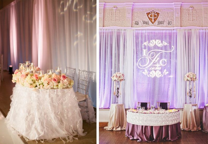 sweetheart table at wedding google search