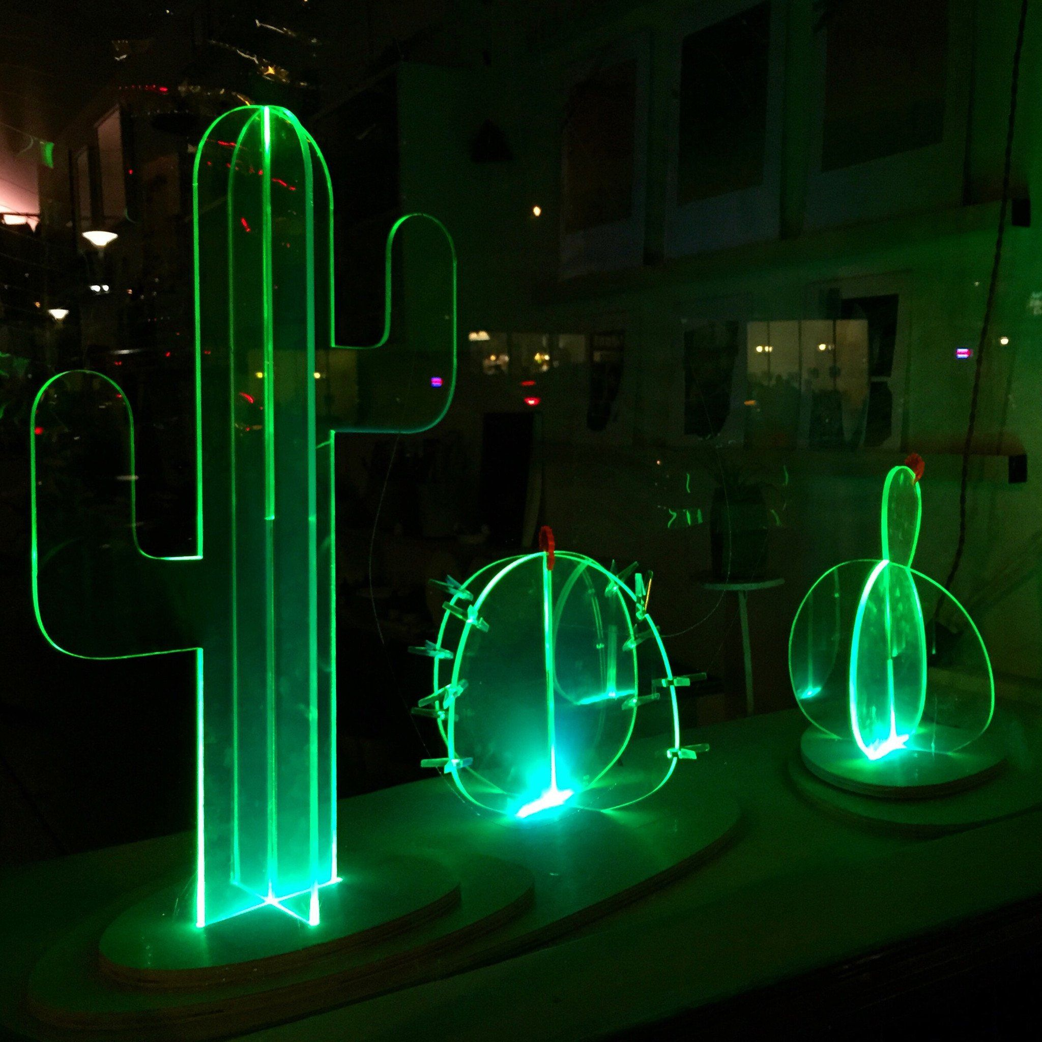 Cactus Verlichting Medium Fluorescent Cactus Lamp Two Piece Base Acrylic