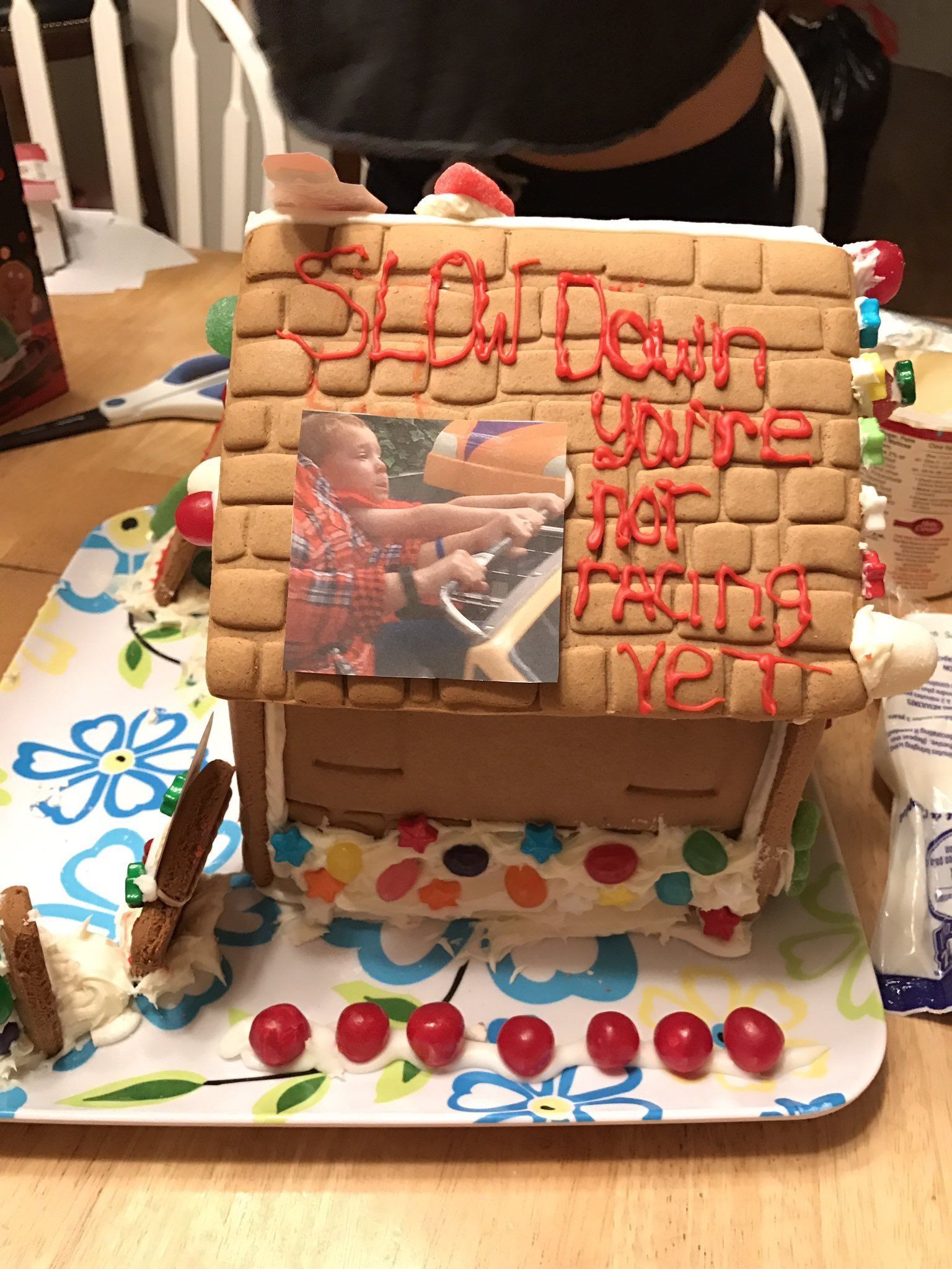 Gavin cars gingerbread house Gingerbread house
