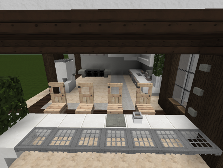 Modern kitchen design in Minecraft. Some cool furniture