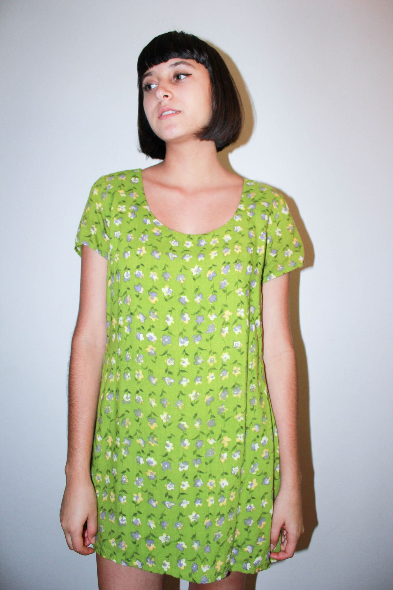 Green floral dressromper products pinterest green floral