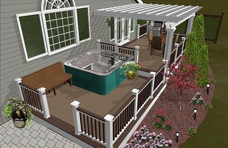 This Would Be Great For Our Deck Just Replace The Hot Tub With
